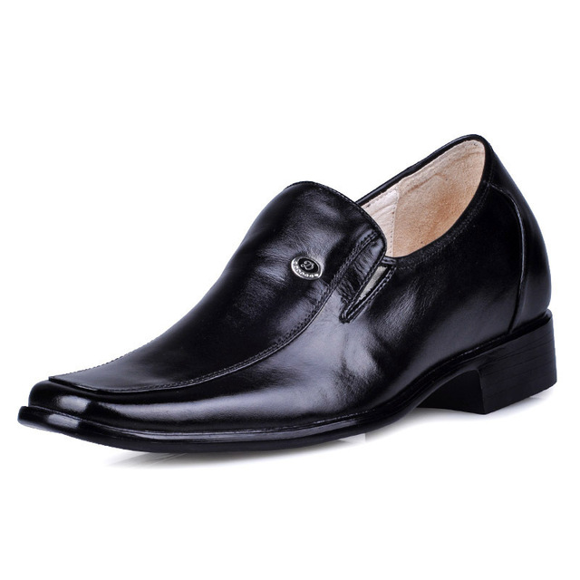 3017 - Genuine Leather Men's Heel Comfortable Elevator Shoes gain 2.75 inches about 7cm
