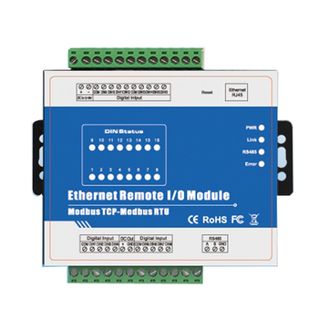 M410T (16DI + RJ45 + RS485) high Speed Puls Teller Ethernet Remote IO IOT Module Modbus TCP Data-acquisitie Module 16 DIN