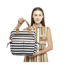 New striped Mummy bag fashion multi-function diagonal large capacity mother and baby out pregnant women handb