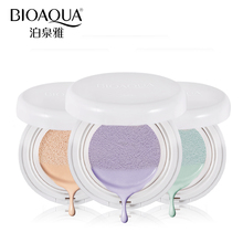 BIOAQUA Air Cushion Face Primer Base Makeup Brighten Dull Skin Whitening Liquid Foundation Concealer Naked Skin Before BB Cream