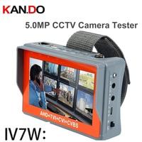 IV7W 4.3 inch 4 in one HD CCTV tester monitor AHD CVI TVI CVBS analog cameras testing 5MP 3MP 1080P 960P 720P PTZ AHD TESTER