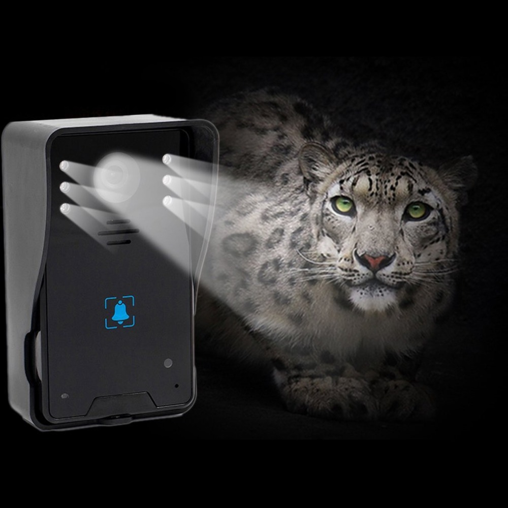 WD02KW12 5V 7-Inch TFT Screen Wireless Visual Doorbell Infrared Night Vision Doorbell Video Intercom Door Phone Home Security