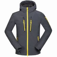 skiing  fishing camping Man grey zipper jacket  USA men's outdoor camping camping  sports Jackets windbreaker jacket soft shells