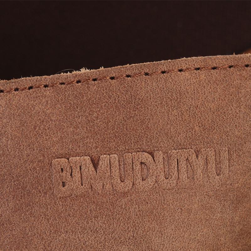 BIMUDUIYU Männer Flip Flops Casual Männer Schuhe Aus Echtem Leder - Herrenschuhe - Foto 5