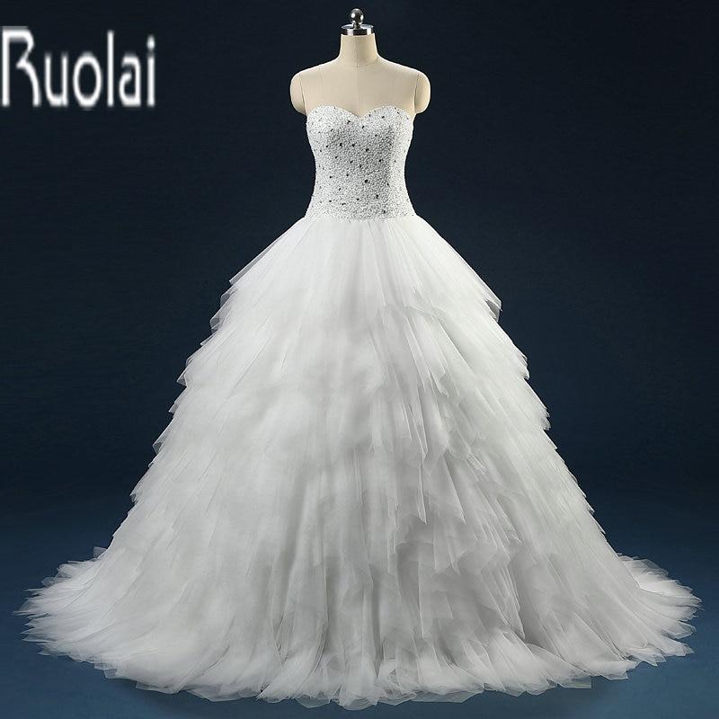Vestido de novia de lujo 2018 Vestido de bola, con cuentas, árabe árabe, vestidos de boda, vestidos de novia sin tirantes, vestido de noiva
