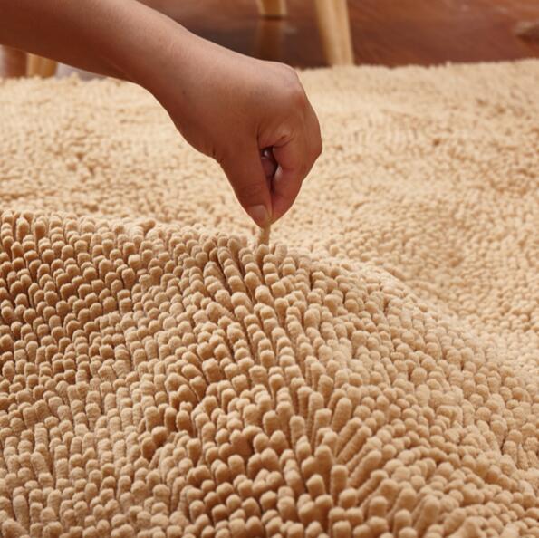 Customizable Large Size  60*160cm/100*200cm Cheap Thicken Chenille Bath Mat, Bathroom Rug Carpet for Living Room Floor Mat
