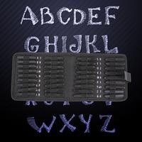 36pcs Carbon Steel Punch Alphabet Letter Number Stamp Set Metal Leather Decoration Letter Stamps Craft Tools