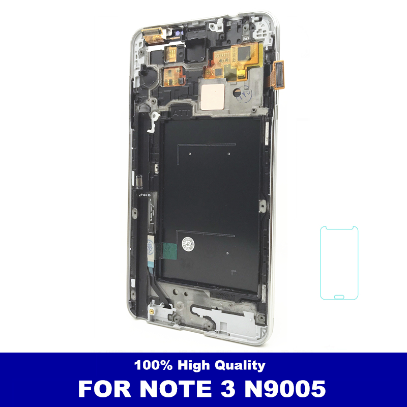 Brightness Adjustment LCDs For Samsung Galaxy Note3 Note 3 N9005 Phone LCD Display Touch Screen Digitizer Assembly With FrameBrightness Adjustment LCDs For Samsung Galaxy Note3 Note 3 N9005 Phone LCD Display Touch Screen Digitizer Assembly With Frame