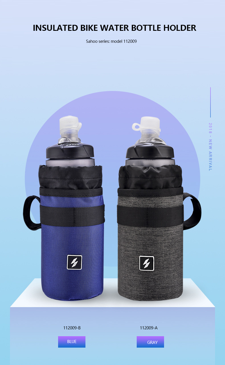 Cycle Bike Bicycle Handlebar Insulated Hydration Water Bottle Bag Cooler Holder