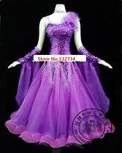 高品質! Rhinethone 紫社交ダンス競技ドレス社交ドレス女性ワルツダンスドレス標準ドレス