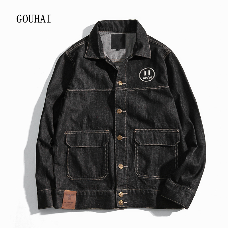 2017 Autumn Winter Denim Jacket Men Bomber Jackets Fashion Print Outwear Male Cowboy Jeans Jacket Men Plus Size M-5XL