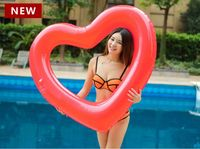 High quality ! 2018 Red Pink Sweet Heart Shape Swimming Ring Giant Sexy Inflatable Pool Float Love Water Fun Toys,Free shipping