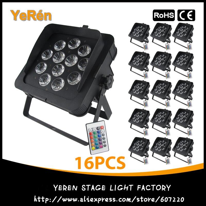 (16PCS) DJ Led Slim Par Led Light Stage Par Light 12Pcs 182W RGBWA+UV Light Led Lamp Disco KTV Light DJ Party