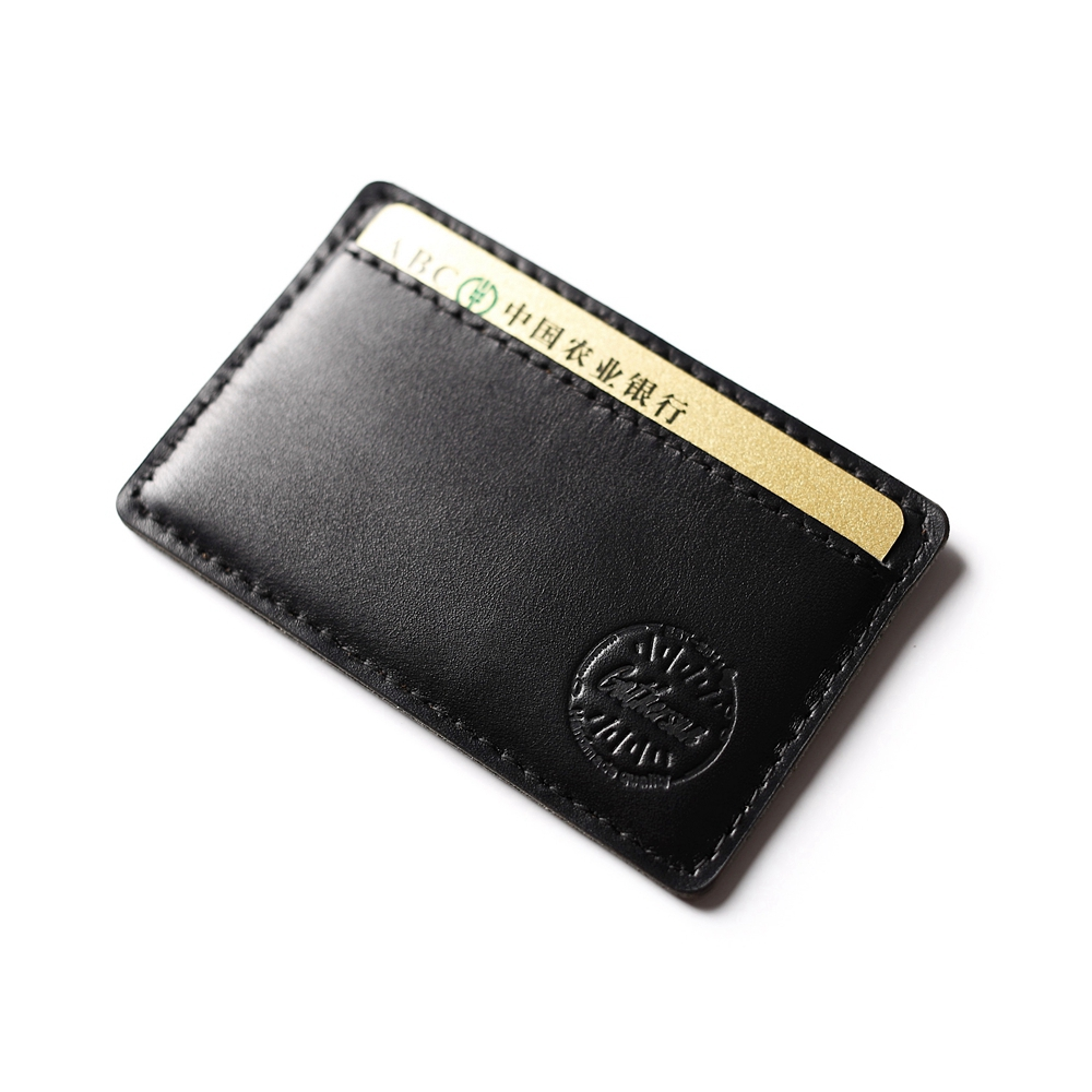 Rfid Blocking Black Leather Card Holder Super Slim Leather Credit Card Wallet Front Pocket Real Cow Leather Bank Card Sleeve