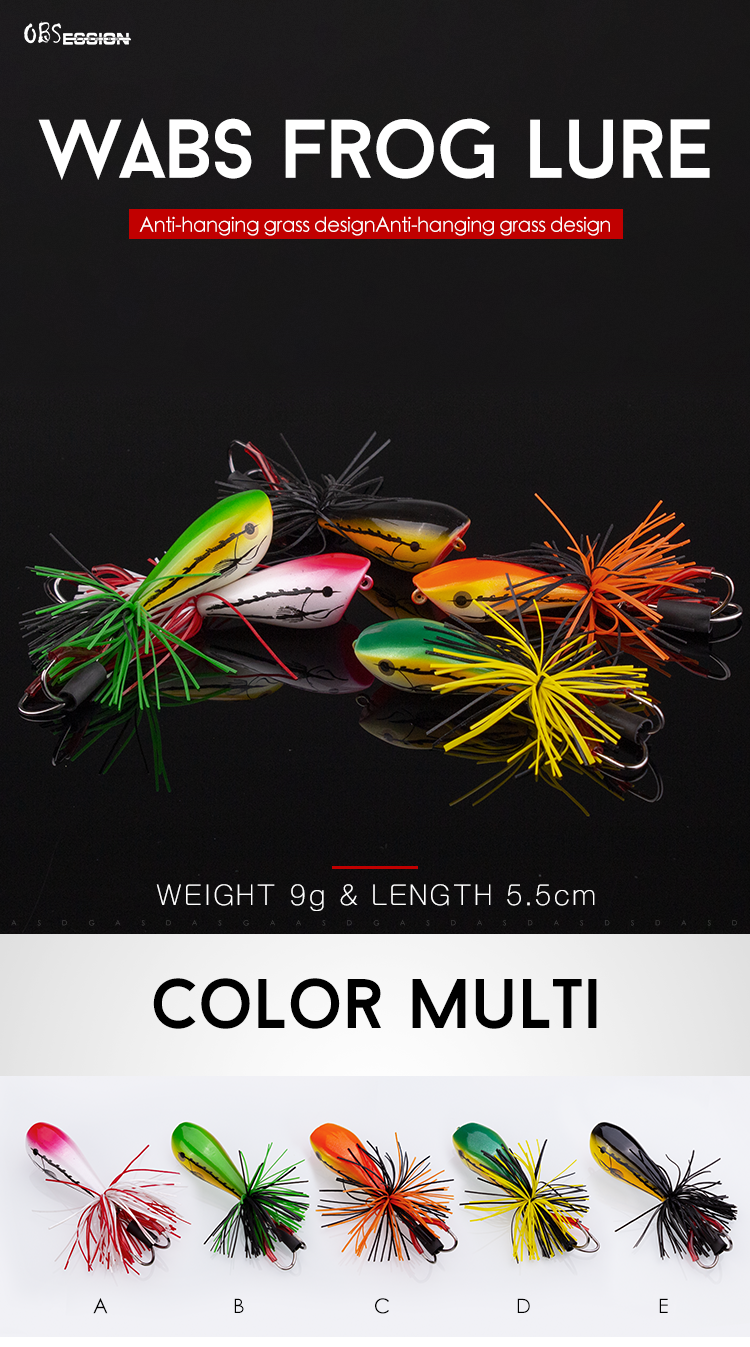 OBSESSION Free Shipping New Style Have Stock Hard Body Lures Octopus Skirt Lure Hard Frog Lure Hard Fishing Lure Wholesale