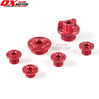 Three color CNC Oil Plug Screw Bolt Set For zong SHEN Motorcycle NC250 NC 250CC Water cool Engine Kayo K6 T6 Dirt Bike Motocross