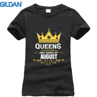 Customize Tee Shirts Gildan Regular Queens Are Born In August Tee Shirts