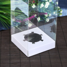 12*12*6cm-12*12*18cm  Clear PVC box with Multicolored Base Jewelry&Doll display Box and Cake&Toy packaging Gift 10pcs/1lot