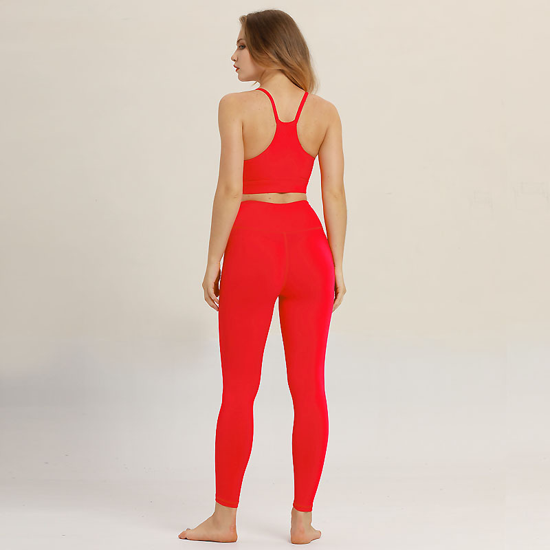 Women Sport Suit Gym Yoga Sets 2 PCS Women Sportswear Athlete Tops Pants Fitness Workout Running Set Fitness Yoga Wear Tights in Yoga Sets from Sports Entertainment