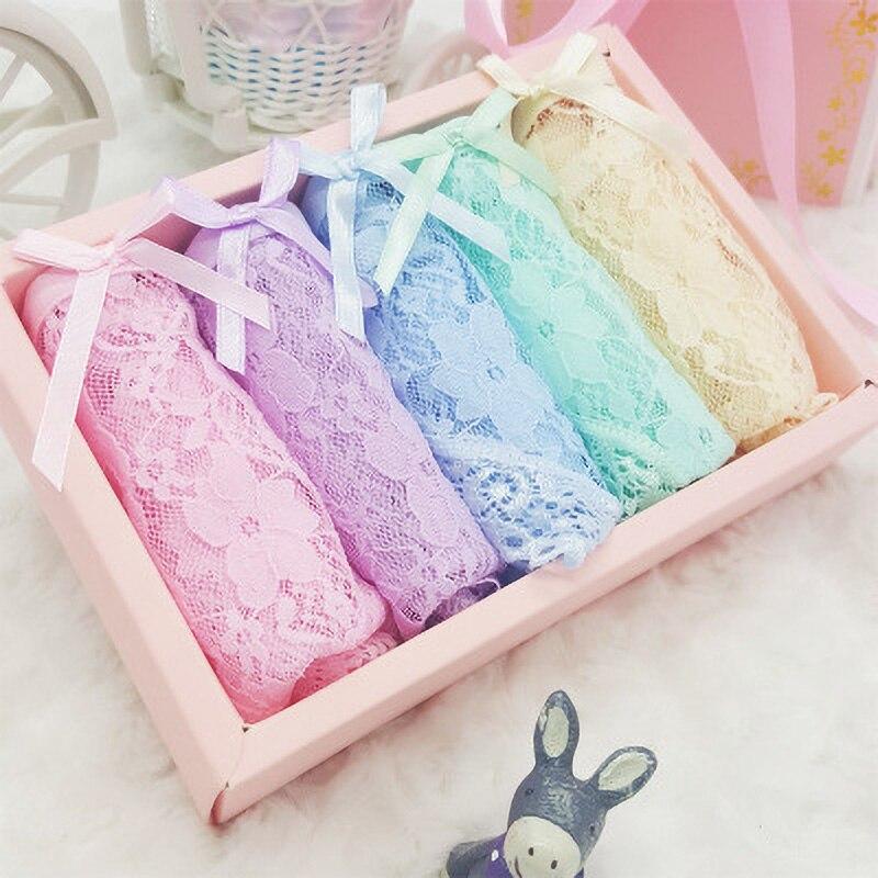 NO Box L-XL 5pcs/set Solid Colors Women's Underpants Sexy Lace Transparent   Panties   Pretty Briefs for Women Underwear   Panties