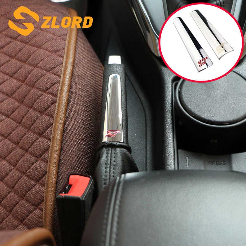 Zlord 車インテリアハンドブレーキ保護トリムハンドブレーキカバーステッカーフォードフォーカス 2 3 4 MK2 MK3 MK4 2005 -2018 Accessiores