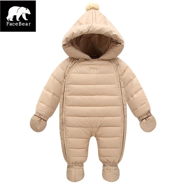 2017 Милые детские зимние комбинезоны с перчатки сапоги 6-24 М детские костюм детские пальто мальчик куртка для девочек комбинезоны