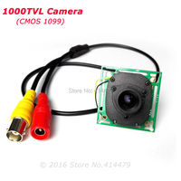 HD 1000TVL CMOS IR 컷 필터 보안 카메라 미니 보드 모듈 3.6 미리메터 렌즈 홈 비디오 감시
