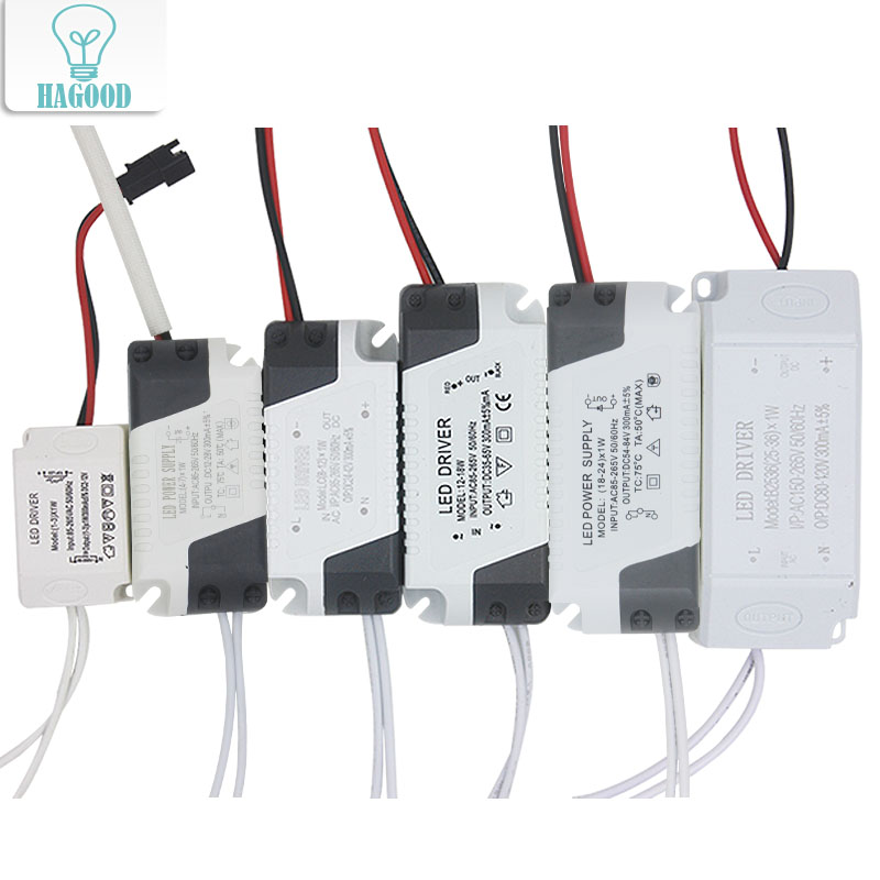 1-36W Safe Plastic Shell LED Driver Input AC90-265V Light Transformer Constant Current 300mA Power Supply Adapter for Led Lamps 56w led driver dc45 55v 1 2a high power led driver for flood light street light constant current drive power supply ip65