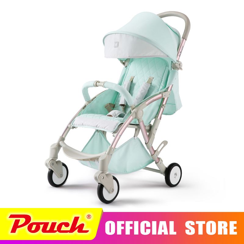 KUB baby stroller baby trolley light folding can be sitting can be lying children four wheel hiding vehicles high profile baby trolley ultra light can be lying down two way four wheel shock baby trolley