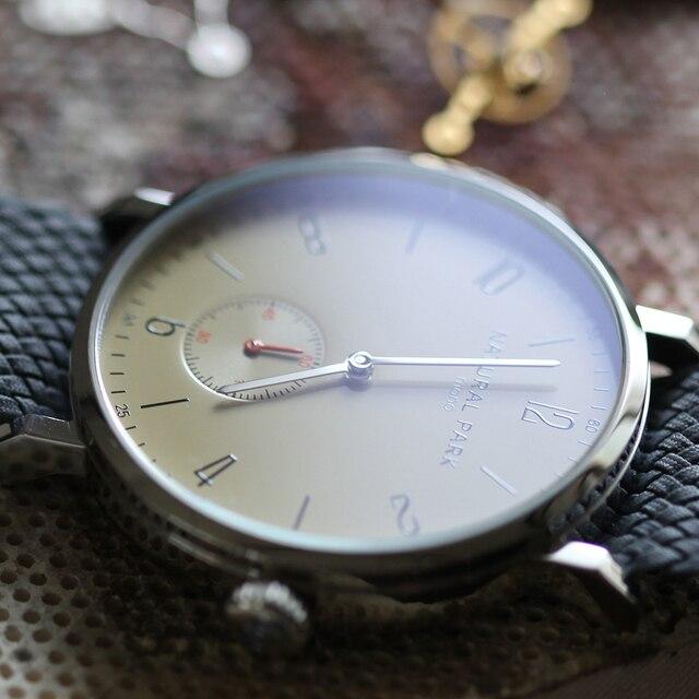 Handcraft Nylon Strap Simple Men Watches  Fashion Luxury Watch NATURAL PARK Famous Brand Men Quartz Watches Free Shipping