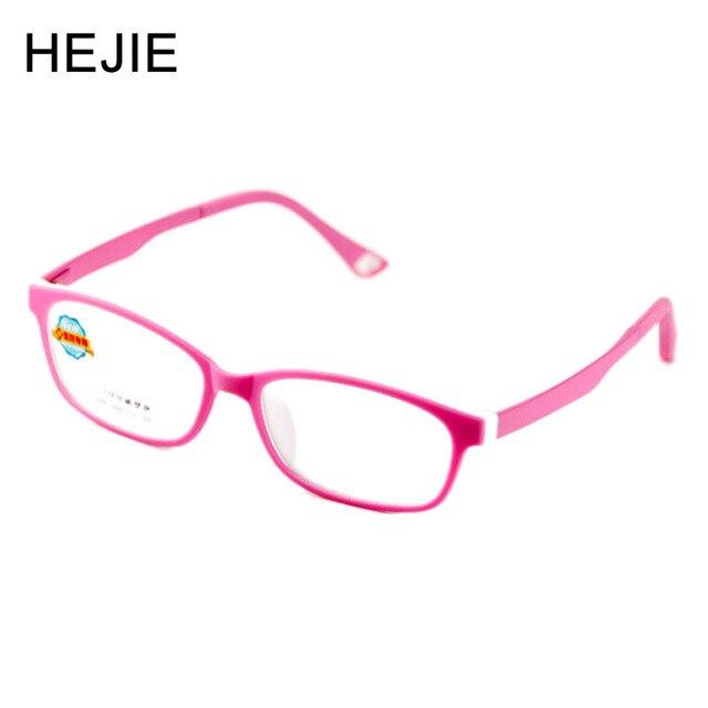 7bad80e85a HEJIE niños ULTEM ovalado gafas ópticas marco doble colores patas elásticas  para niñas niños estudiantes tamaño