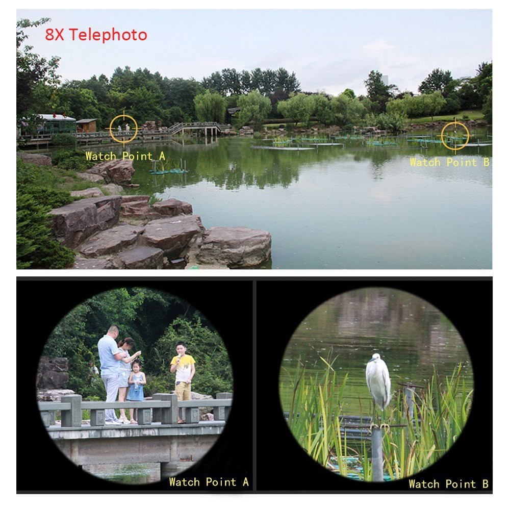 Orbmart 8X Zoom Telescope Telephoto Camera Lens For iPhone 5 5S 6 6S Plus Samsung S6 S5 S4 Galaxy Note 4 Xiaomi HTC Mobile Phone 19