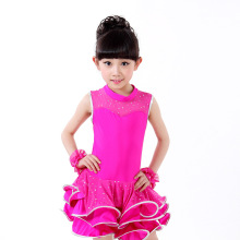 4 Colors Latin Dance Dress for Girls Dresses  Tango Ballroom Dance Dresses Kids Girl Dancewear
