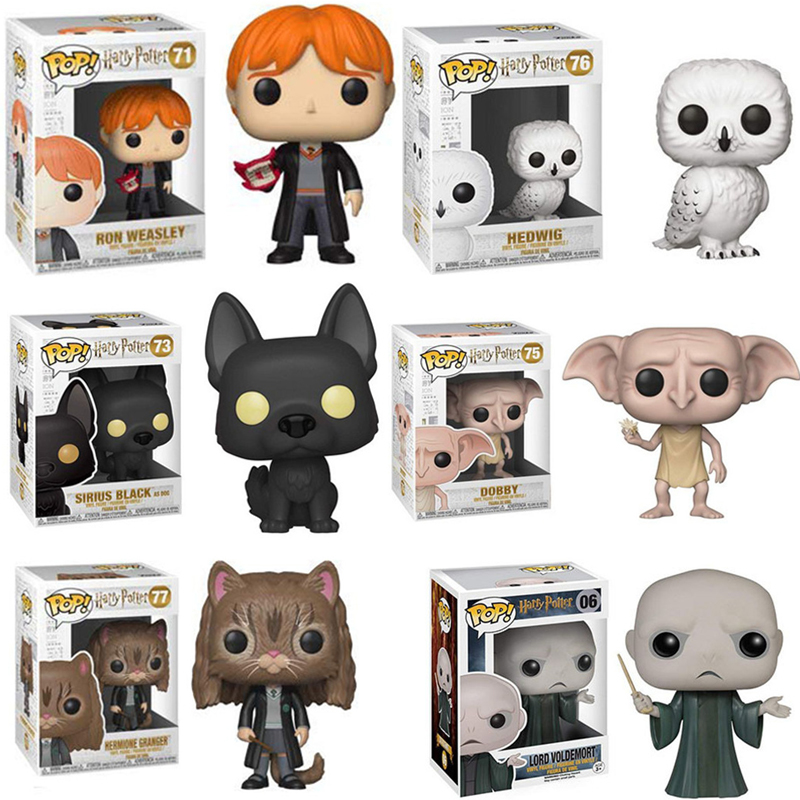 FUNKO POP New Arrival Hermione Dobby Sirius Black Hedwig RON Action Figure Collection Model toys for Children Christmas GiftFUNKO POP New Arrival Hermione Dobby Sirius Black Hedwig RON Action Figure Collection Model toys for Children Christmas Gift