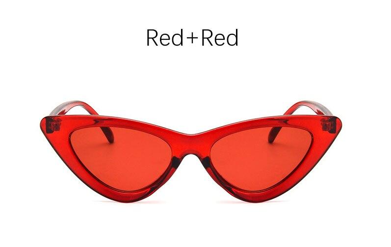 cat eye shade for women fashion sunglasses brand woman vintage retro triangular cateye glasses oculos feminino sunglasses Sexy 12