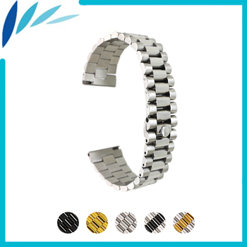 Stainless Steel Watch Band 18mm 20mm 22mm for Rolex Quick Release Watchband Strap Wrist Loop Belt Bracelet Black Silver Gold 22mm quick release ceramic watchband tool for tissot longines mido luminox seiko watch band steel butterfly clasp wrist strap