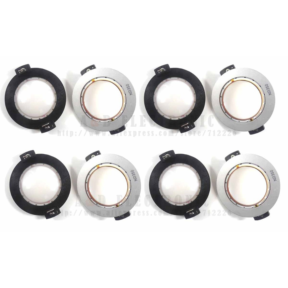 8 PCS/lot Hihg quality ND350 Speaker diaphragm replacement , neodymium speaker 44mm voice coil for professional audio-in Speaker Accessories from Consumer Electronics    1