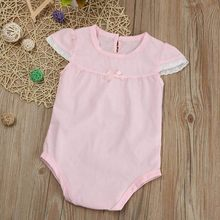 f37160899ea5 MUQGEW Summer Newborn Baby Girls Lace Splice Outfit Romper Jumpsuit Clothes  Sunsuit Lace Baby Onesie Ropa Recien Nacido