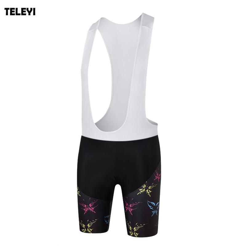 TELEYI Cycling Bib Short Women Breathable Pro Summer Classic MTB Bike Pants 3D Breathable Padded Quick