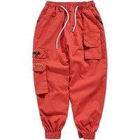 Camo Cargo Mens Pants Elastic Waist With Zippers Many Pocket Tactical Fashions Men Camouflage Hip Hop Pants Man Modis Streetwear