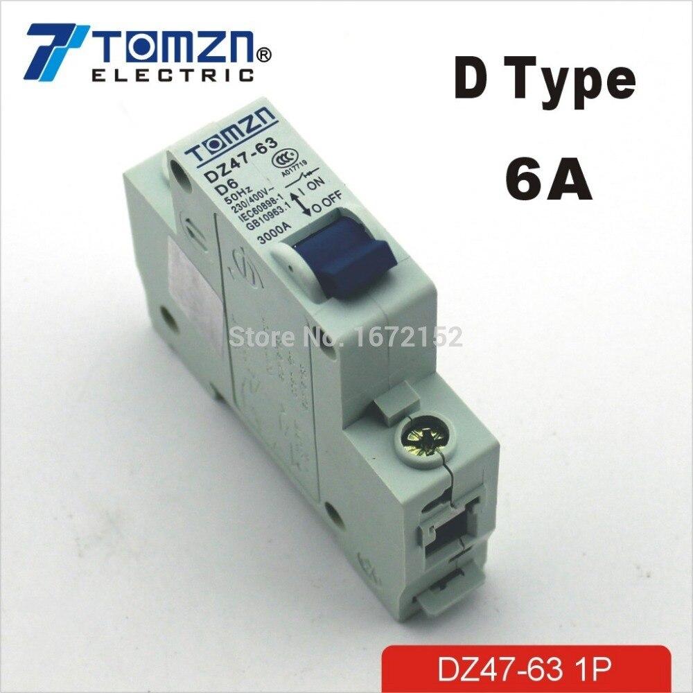 Aliexpress.com : Buy 1P 6A D type 240V/415V 50HZ/60HZ Mini