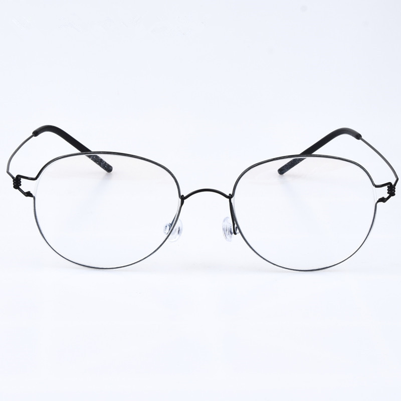 New rim series of oval-shaped screwless creative Oliver Retro hand-made eyeglasses myopia lens Oculos de grau with original case