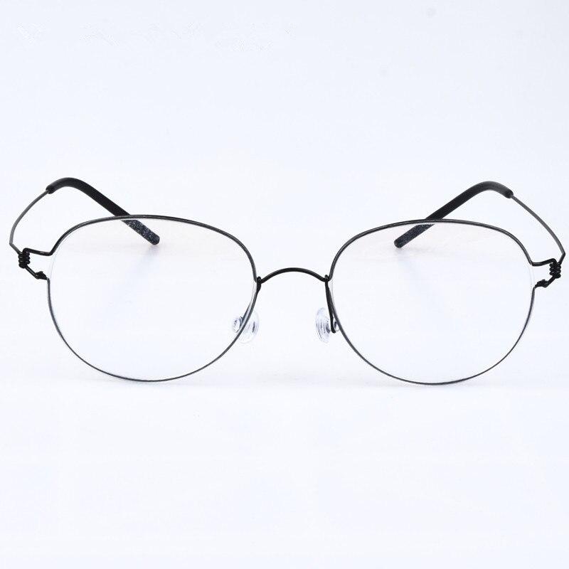 Nouvelle jante série de ovale en forme de sans vis creative Rétro Rond lunettes à la main myopie lentille Oculos de grau avec la boîte d'origine