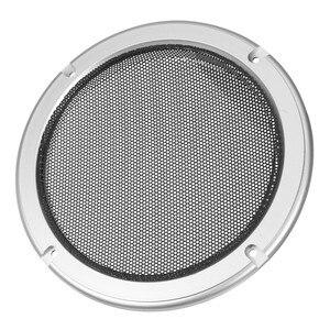 Image 2 - 1 çift çok seçenekli yuvarlak hoparlör ızgarası örgü Net hoparlör koruyucu kapak 4/5/6.5/8/ 10 inç hoparlör kapağı