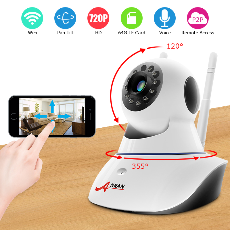 Pan / Tilt Wireless IP Camera Wifi 720P HD CCTV For Home P2P Security Surveillance Two-Way Audio 32GB SD Card Mobile APP
