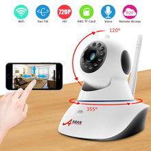 Anran телеметрией Беспроводной IP Камера Wi-Fi 720 P HD CCTV Камера дома P2P видеонаблюдения двухстороннее аудио 32 ГБ SD карта поддерживает