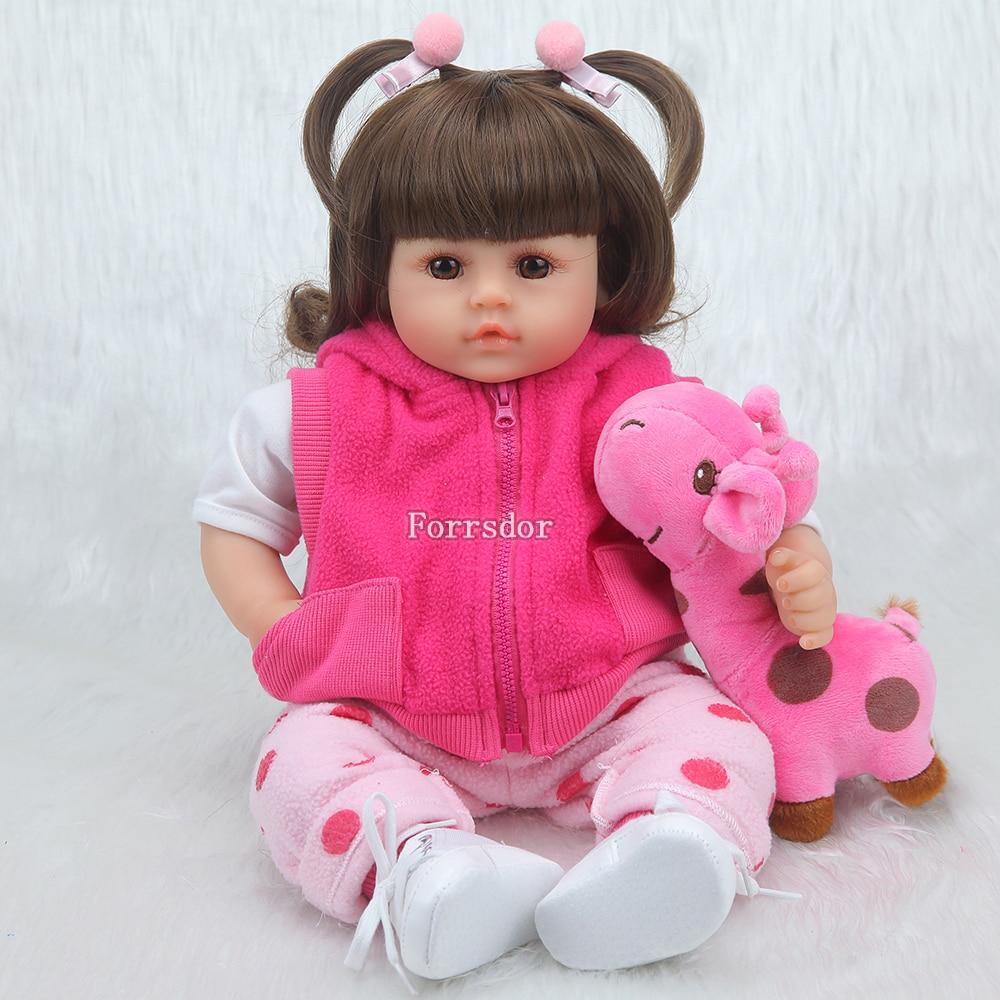 Baby reborn doll 43 cm new handmade silicone reborn baby adorable realistic boy Bonecas girl boy