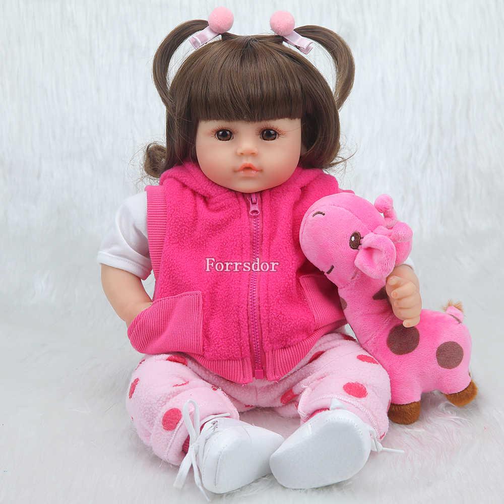 Кукла-Реборн, 43 см, новинка, для ручной работы силиконовая кукла-Реборн, Очаровательная Реалистичная кукла для мальчиков и девочек, для мальчиков, силиконовая кукла lol