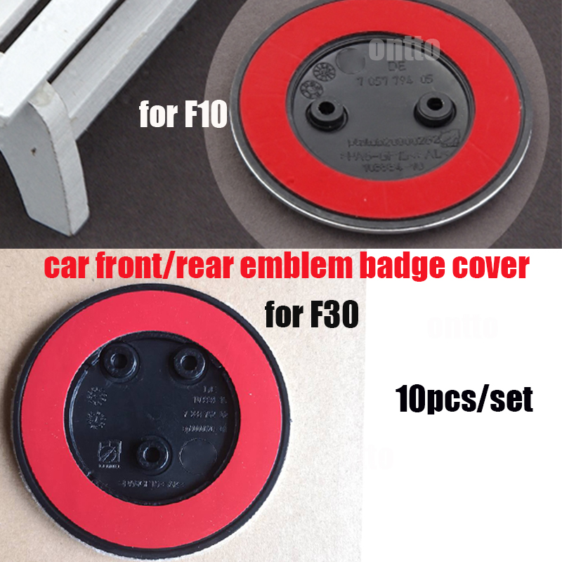 10pcs set F10 F30 Car Front Hood Emblem Bonnet Badge Trunk Boot Caps for bmw F10