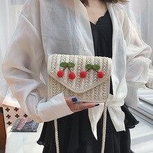 Square Style Hand-woven Woman's Shoulder Bag Bohemian Summer Straw Beach Bag Travel Shopping Female crossbody bags for women